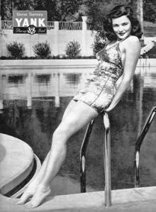 Actress Gene Tierney as seen in Yank Magazine