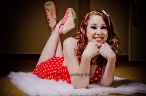 My beautiful wife Dawn in a pinup photo from this past summer.  Photo by Swadley Studio