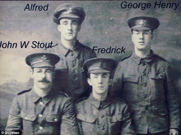 Four of the five Smith brothers, killed in action during World War I.