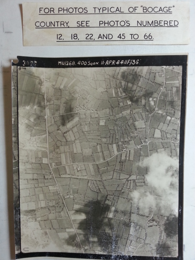 An aerial photograph from the Nevins Collection, showing just some of the hundreds of hedgerows the Americans had to contend with in June-July 1944. Photo by Guy Nasuti