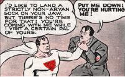 Superman takes on der Fuhrer during World War II.