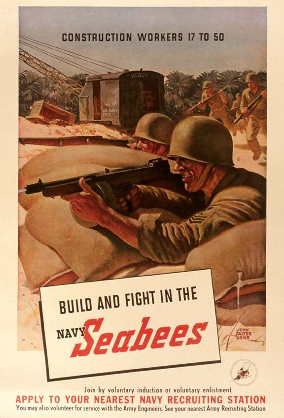 navy seabee poster